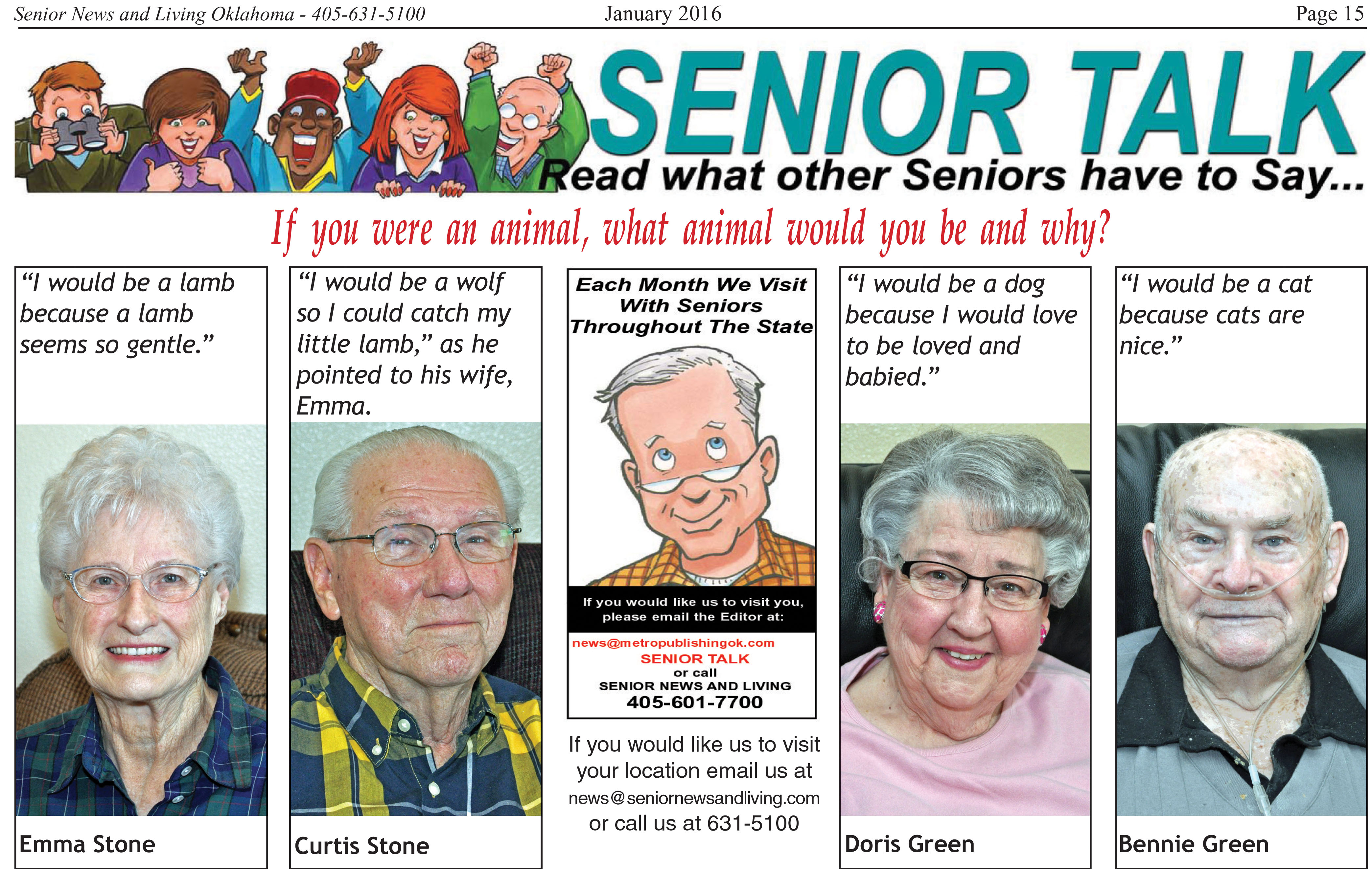 senior talk if you were an animal what animal would you be and senior talk if you were an animal what animal would you be and why emerald square assisted living