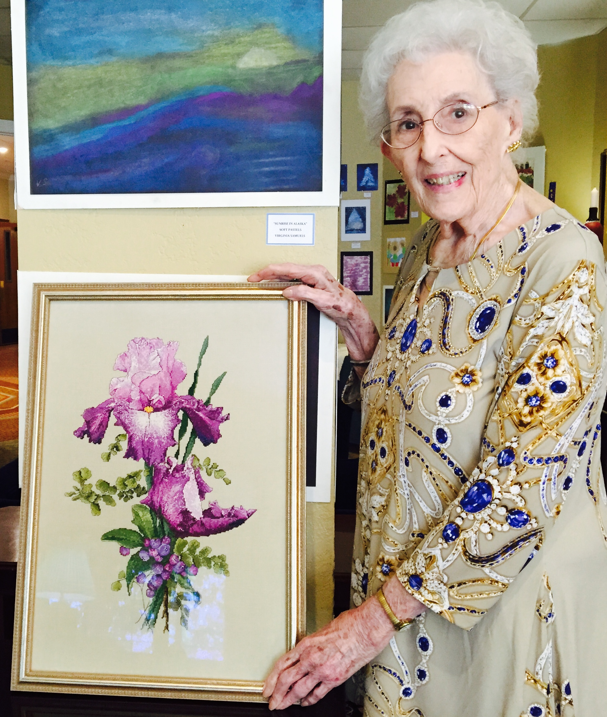 art-show-with-betty-hatcher-and-her-purple-iris