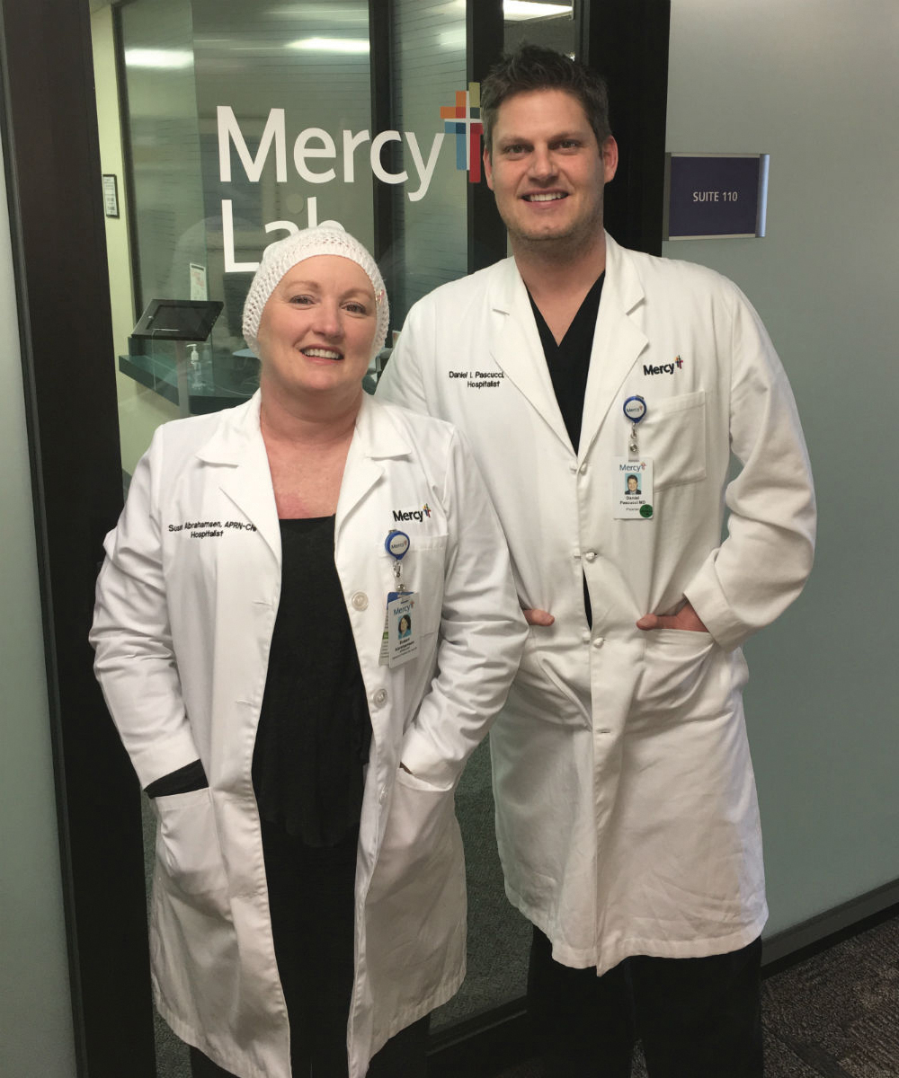 Susan Abrahamsen and Dr Pascucci.