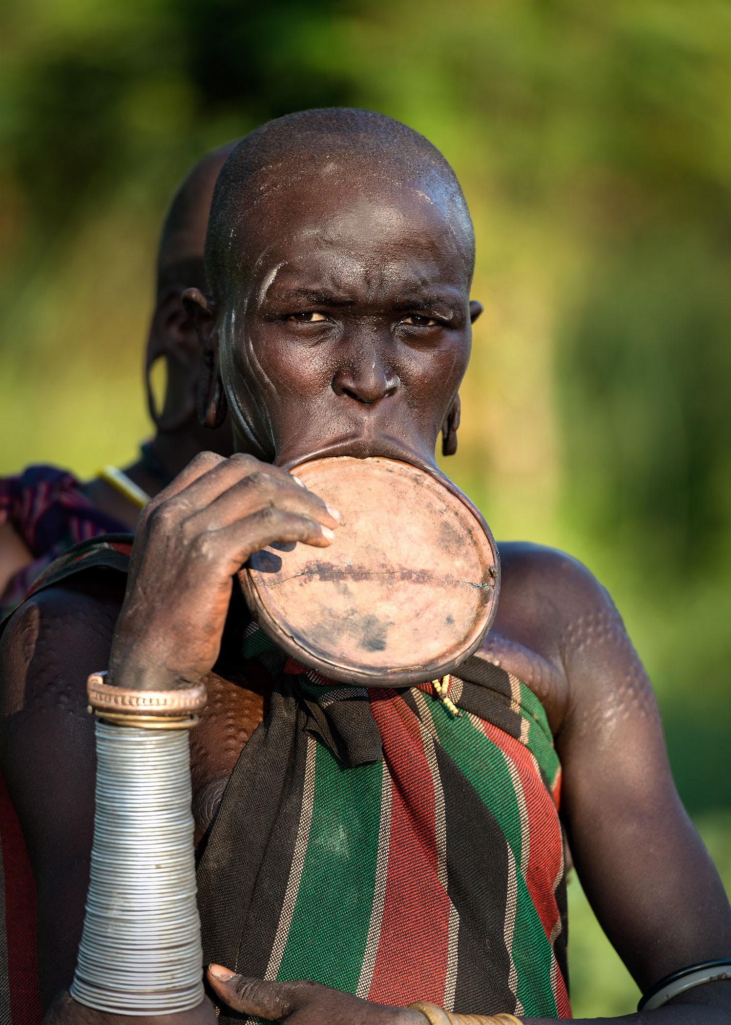 The Mursi tribe, Omo Valley, Ethiopia.